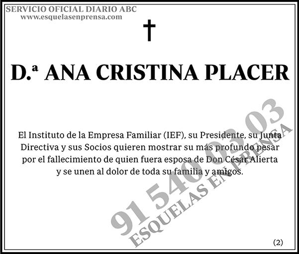 Ana Cristina Placer